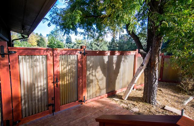 Fence modern terrace balcony denver by wood rehab for Terrace fence