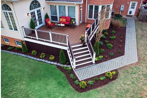 deck landscape designs