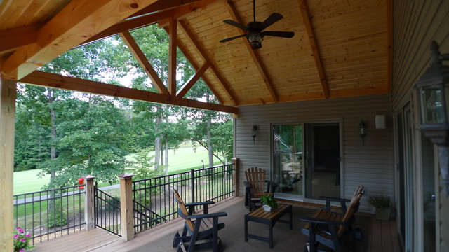 Ffg covered deck rustic other metro by sunset builders for Rustic covered decks