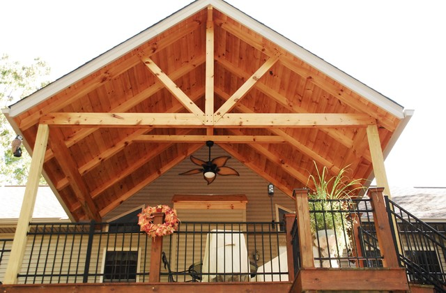 Ffg Timber Frame Deck Cover Rustic Deck Other By