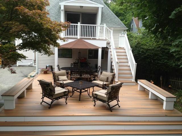 Fiberon Composite Deck Lexington, MA - Traditional - Deck ...