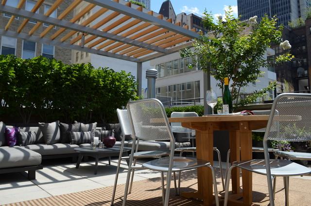 Financial District Penthouse modern-deck