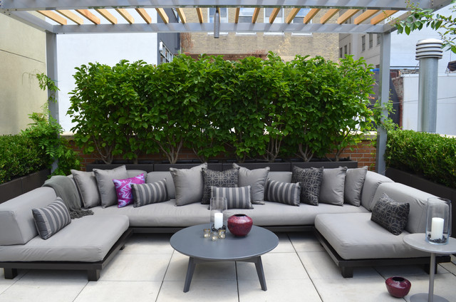 Financial district penthouse modern terrace new york for Garden rooms finance
