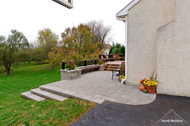 We Eliminated The Downward Slope From Driveway To Lawn By Creating