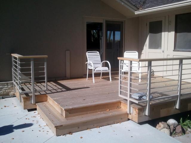 """Floating Corner"" Deck Rebuild contemporary-deck"