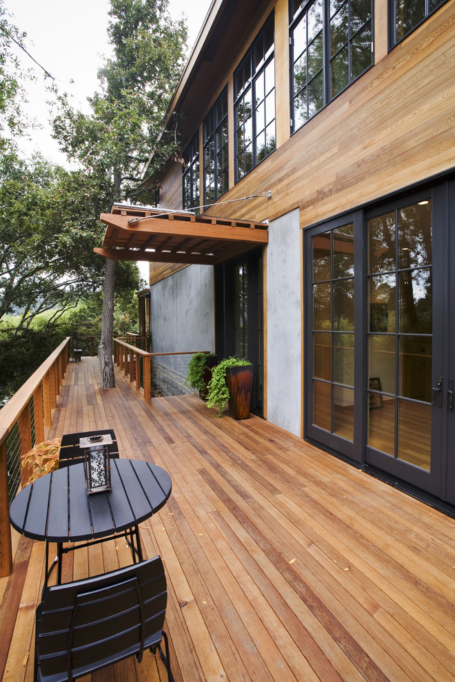 Deck - transitional deck idea in San Francisco with no cover