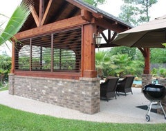 Gazebo by the Pool traditional-deck