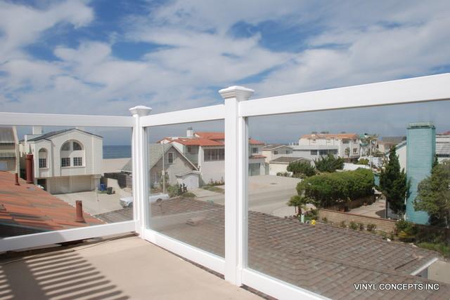Glass Amp Clear Railings For Decks And Balconies Beach
