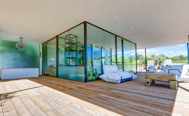 Glass Cube Patio Contemporary Deck Other Metro By