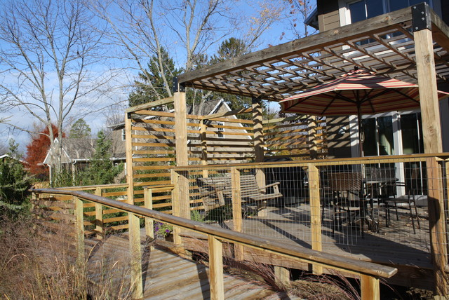 """Glenn Retreat Project - LEED for Homes """"Platinum"""" traditional-deck"""