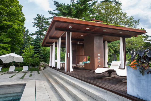 Green Roof Pool Pavilion Contemporary Deck Other By Sequined Asphault Studio Photography