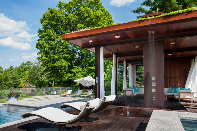 Green Roof Pool Pavilion contemporary-deck