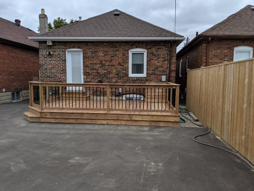 Deck with Rail and Gate