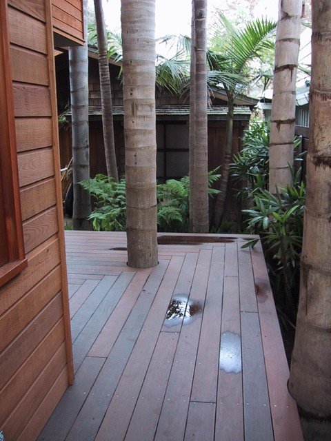 Hall contemporary-deck