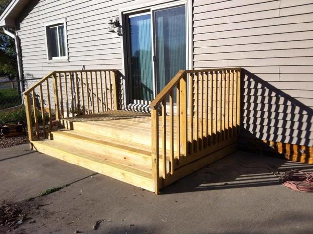 Hanover Patio Door Steps traditional-deck