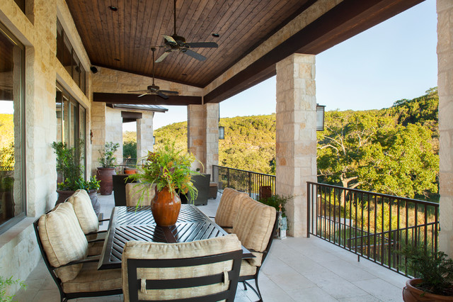 Hill Country Custom Home Rustic Deck Austin By Dawn Hearn Interior Design