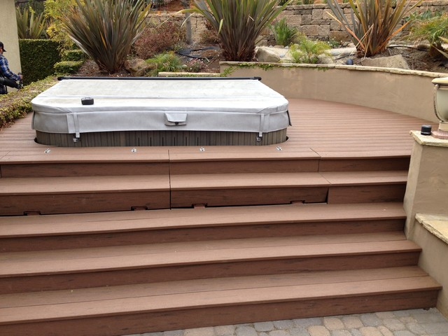 Hinged Stairs And Completed Deck