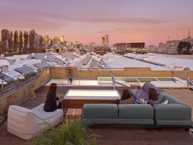 Historic soma loft for live work industrial deck san for Live work san francisco