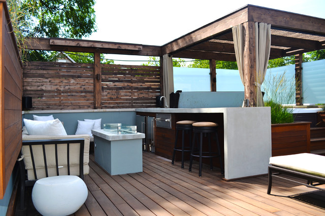 Hot Tub Retreat Contemporary Deck Other Metro By