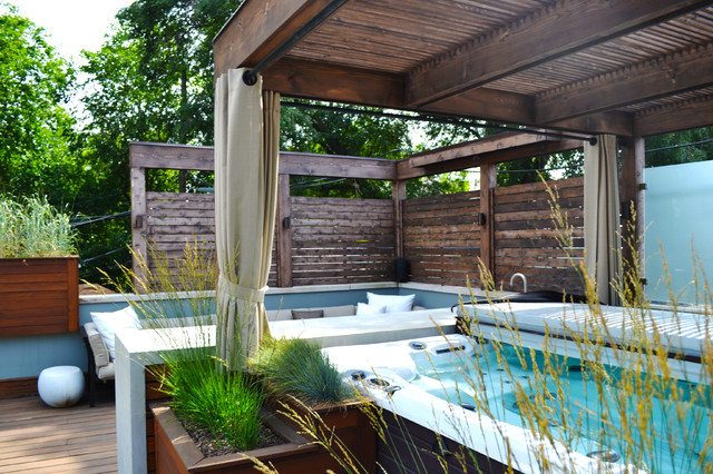 Hot Tub Retreat Contemporary Deck