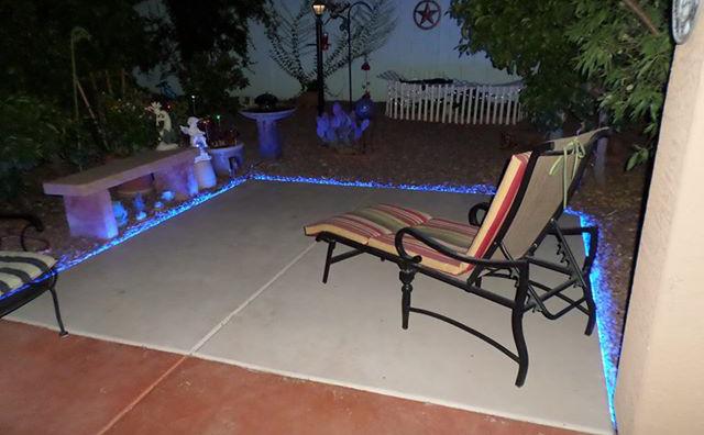 Inspired Led Lighting Inspired LED Outdoor Lighting Blue Strip On Patio Deck Led E