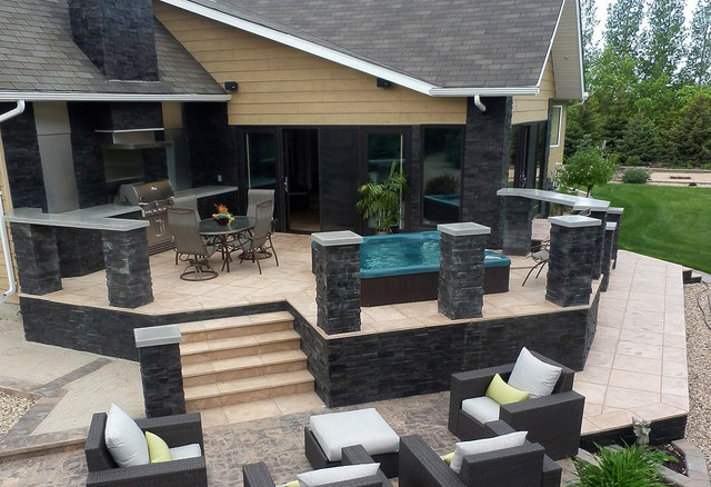 Integrastone luxury outdoor living spaces for Luxury outdoor living spaces