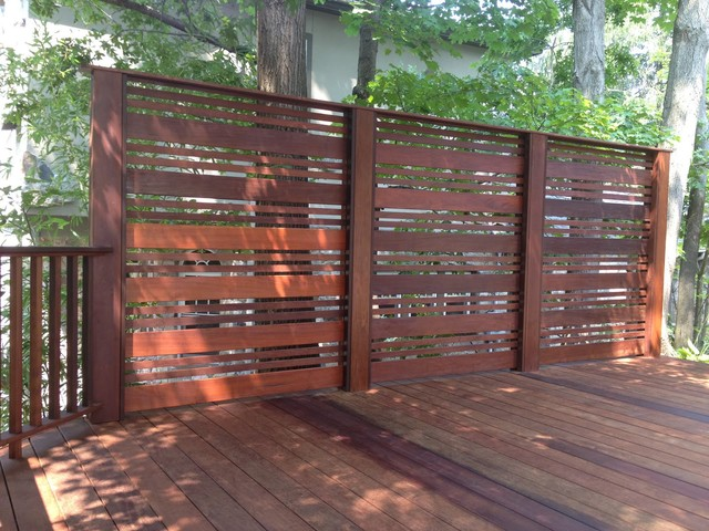 Ipe deck traditional deck new york by decks unique for Wood patio privacy screens