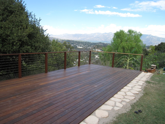 Ipe Hillside Decks Contemporary Deck Los Angeles
