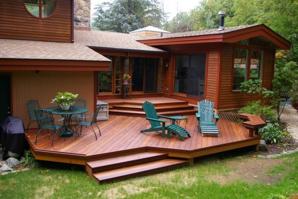 Landscaping Plants 4 Foot Tall Multi Level Deck Design Ideas