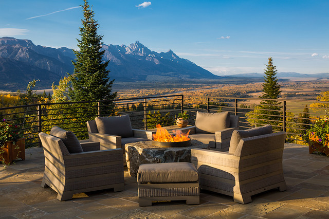 Jackson hole rustic deck other by zoske construction for The deck jackson hole