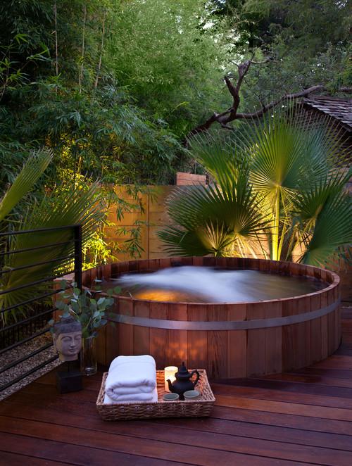 decking hot tubs