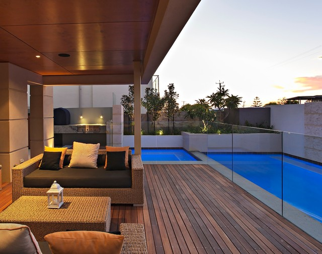 Contemporary Deck Perth Kathleen St Residence by Tim Davies Landscaping contemporary-deck