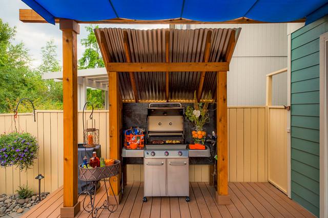 Kelsey property classique chic terrasse en bois et for Paradise restored landscaping exterior design