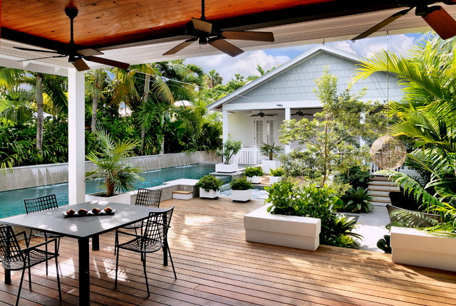 key west contemporary tropical deck