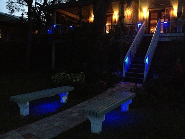Kimbrough Deck Lighting Using Low Voltage Lighted Post Caps Traditional