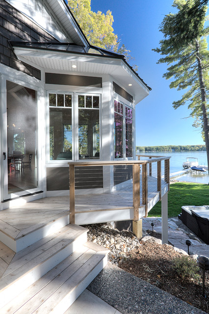 Lake home beach style deck other by lakeview for Beach house plans with decks