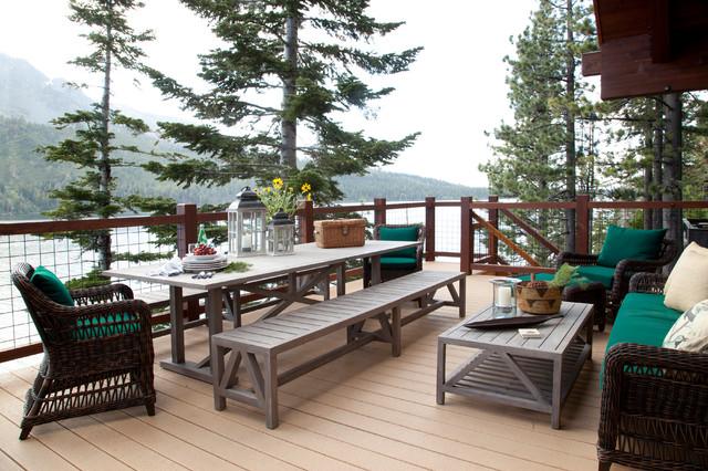 Lake house rustic deck sacramento by laura larkin for 64 rustic terrace bristol ct