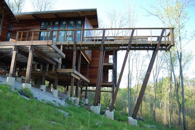 Lake house contemporary deck nashville by michael for Lakehouse construction