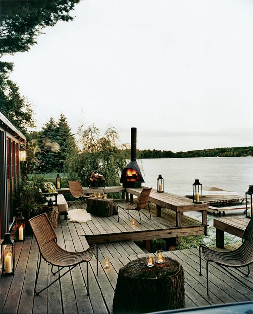 Lake House Rustic Deck