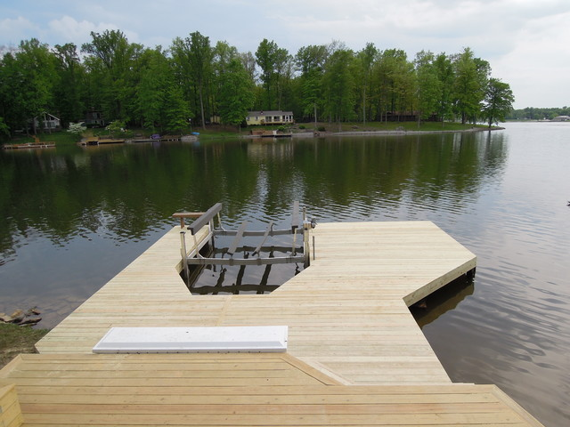 Lake Lorelei Ohio Boat Dock Amp Deck Traditional Deck