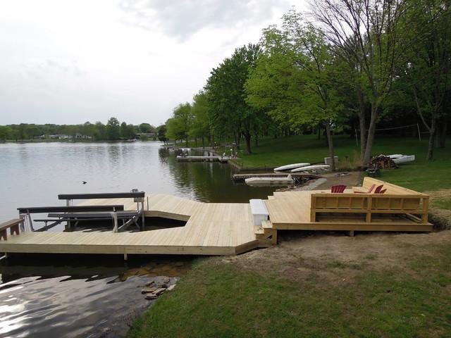 Lake Lorelei Ohio Boat Dock Amp Deck Traditional Deck