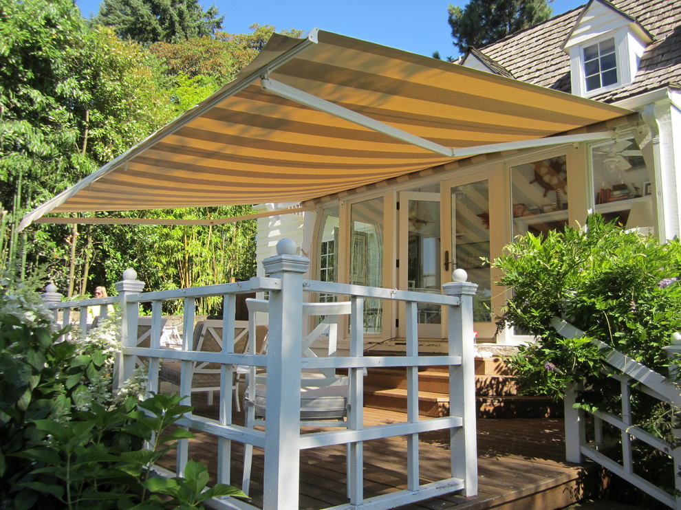 Lake Oswego Retractable Awning - Traditional - Deck ...