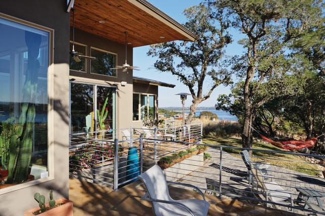 Lake travis view contemporary deck austin by danze for Danze e davis architects