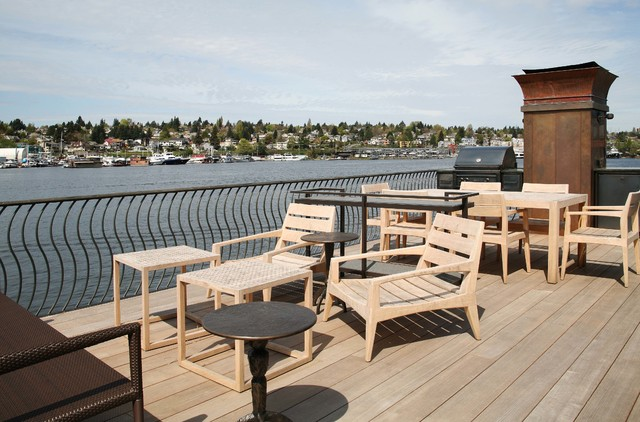 Lake Union Floating Home 2 contemporary-deck