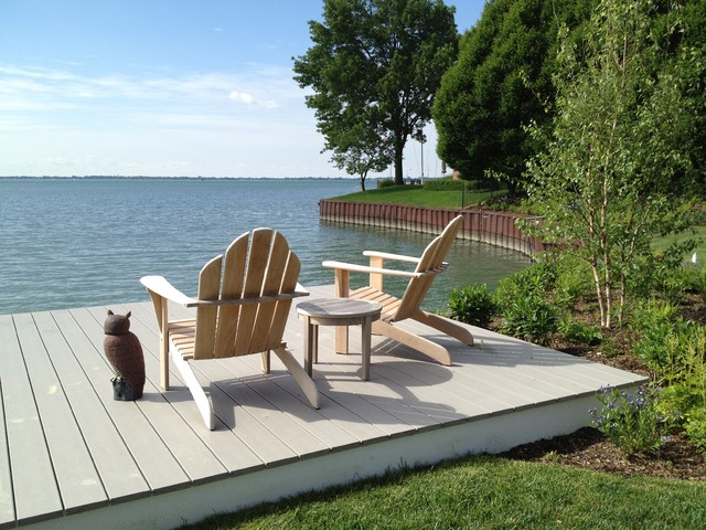 Lakefront Landscape Traditional Deck Detroit By