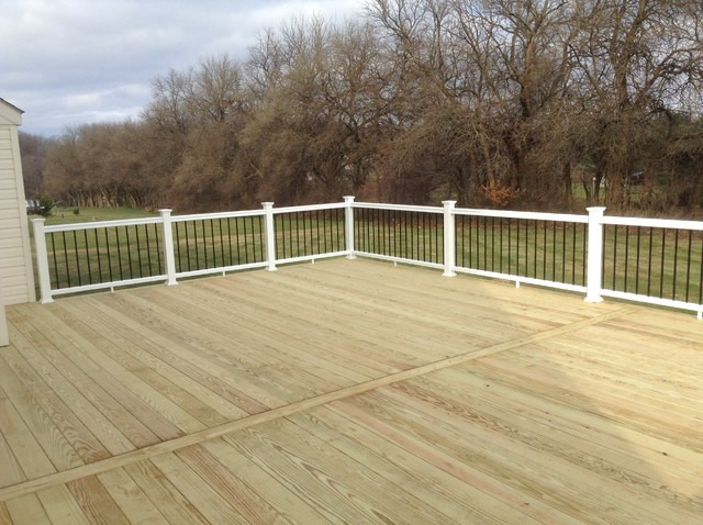 Large Select Treated Deck W TimberTech Rail Black