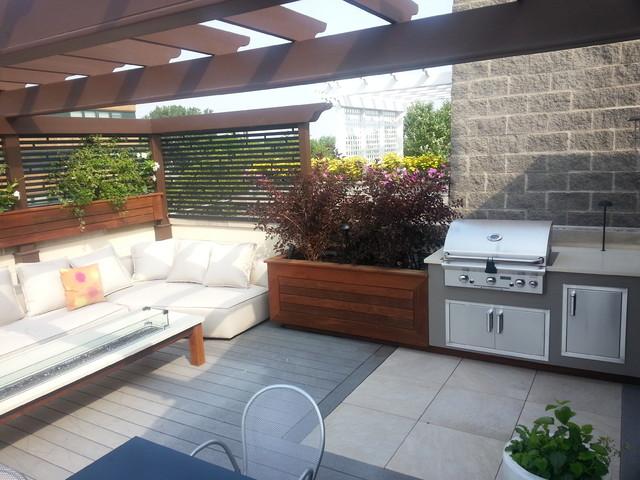 Lincoln lounge park contemporaneo terrazza chicago for Terrazza design