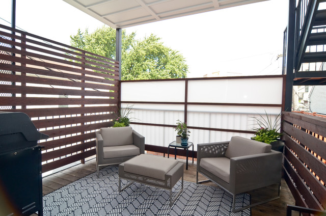 lincoln park 2 bedroom condo - transitional - deck - chicago - by ... - Condo Patio Privacy Ideas