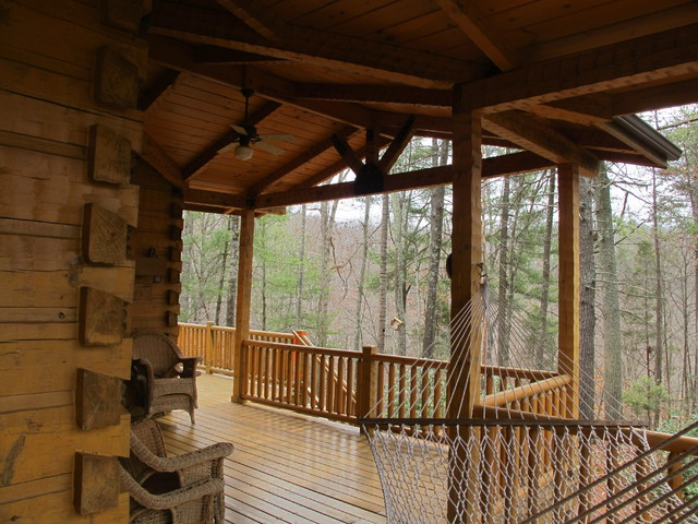 Log Cabin Rustic Deck Other By Morcom Building Inc