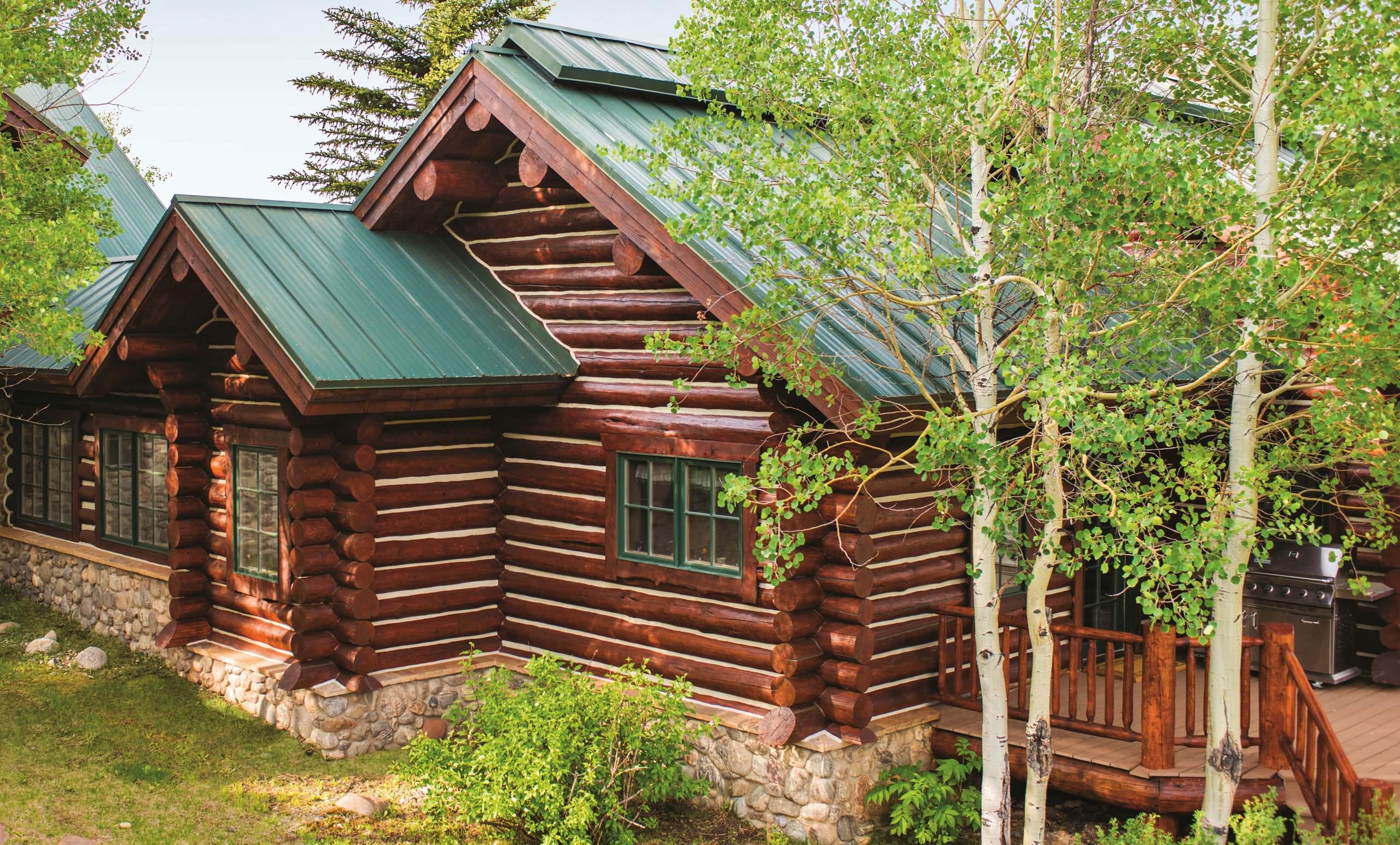 Log Cabin Exterior Stain Ideas Photos Houzz